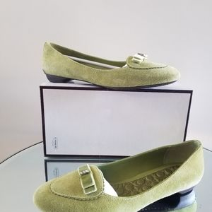 Coach Green Flat Loafer Moccasins 7.5